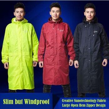 Men Womens Long Trench Raincoats Waterproof Outdoor Jacket burbe rry capa de chuva Poncho Casual Hooded Rainwear Free Shipping