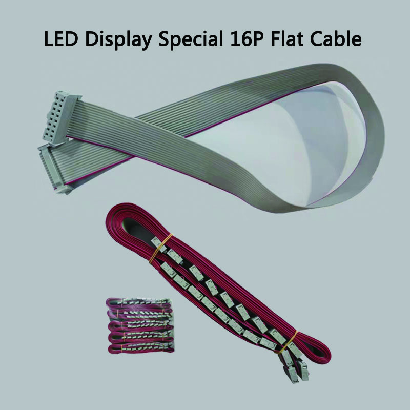 10 Pcs LED Screen Controller Module Panels Use 50cm 16Pin Flat Cable Data Cable Signal Cable Hub75 Flat Cable