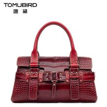 Famous brand top quality Genuine leather women bag  2016 new crocodile pattern handbag Shoulder Messenger Bag Diana package