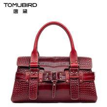 Famous brand top quality Genuine leather women bag 2016 new crocodile pattern handbag Shoulder Messenger Bag
