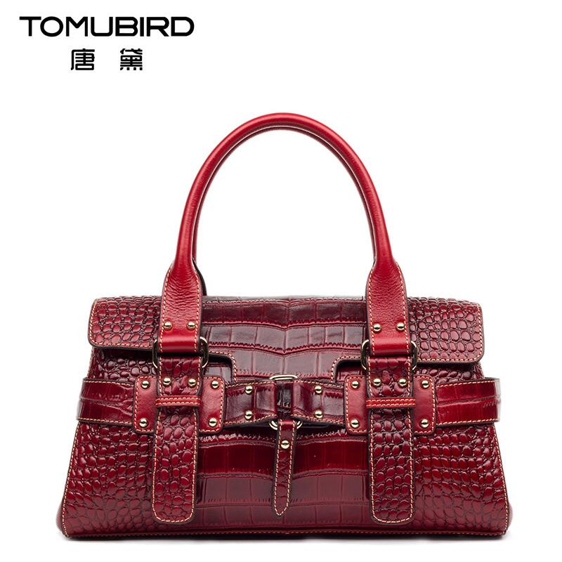 Famous brand top quality Genuine leather women bag 2018 new crocodile pattern handbag Shoulder Messenger Bag Diana package