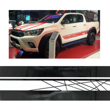 где купить free shipping line racing styling side stripe graphic vinyl hood car sticker for toyota hilux revo vigo по лучшей цене
