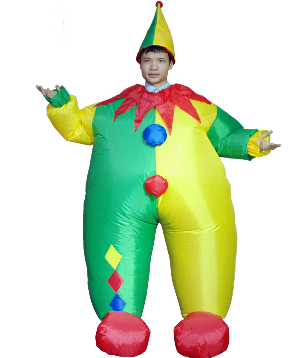 Adult Inflatable Clown Costume Funny Game Cosplay Dress Halloween ...