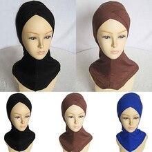 Fashion Women Muslim Scarf Full Cover Inner Hijab Cap Islamic Hat Underscarf