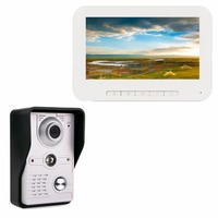 7 Color TFT LCD Screen Video Door Phone System Wired Visual Dual Way Intercom Night Vision