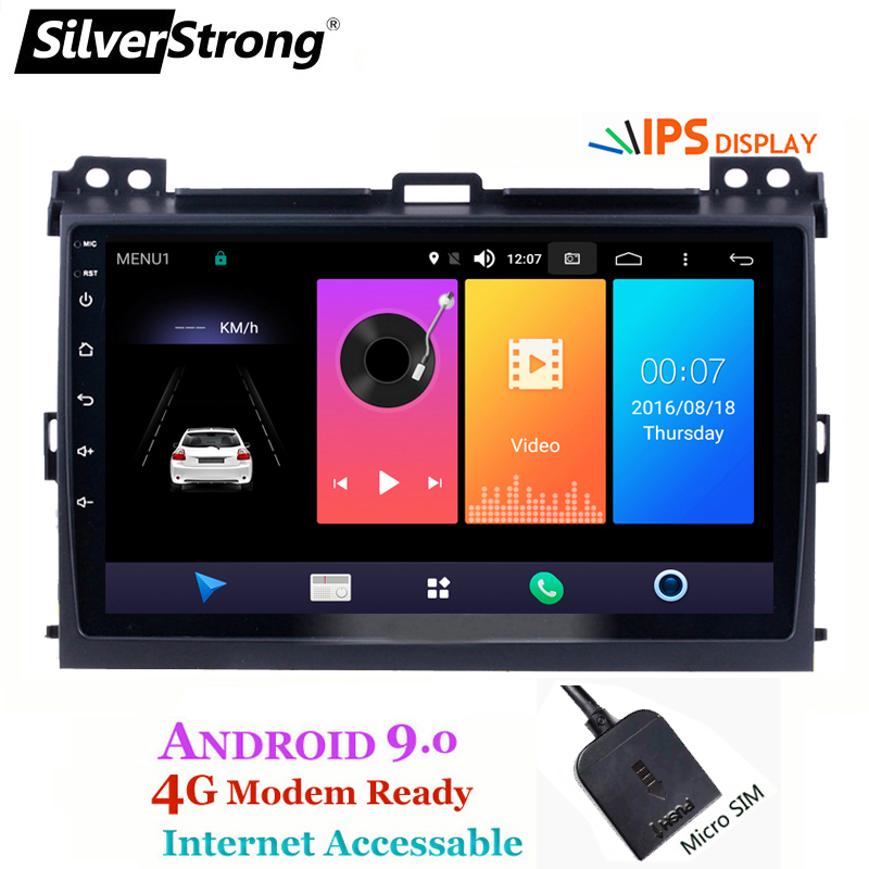 SilverStrong Android9.0 IPS 4G 9 polegada Rádio GPS Do Carro Para Toyota Prado 120 Land Cruiser android9.0 IPS Prado120 para PIONEER/JBL amp