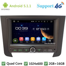 Quad Core 7″ 1024*600 2Din Android 5.1.1 Car DVD Multimedia Player Radio BT FM DAB+ 3G/4G WIFI GPS Map For SsangYong REXTON 2014