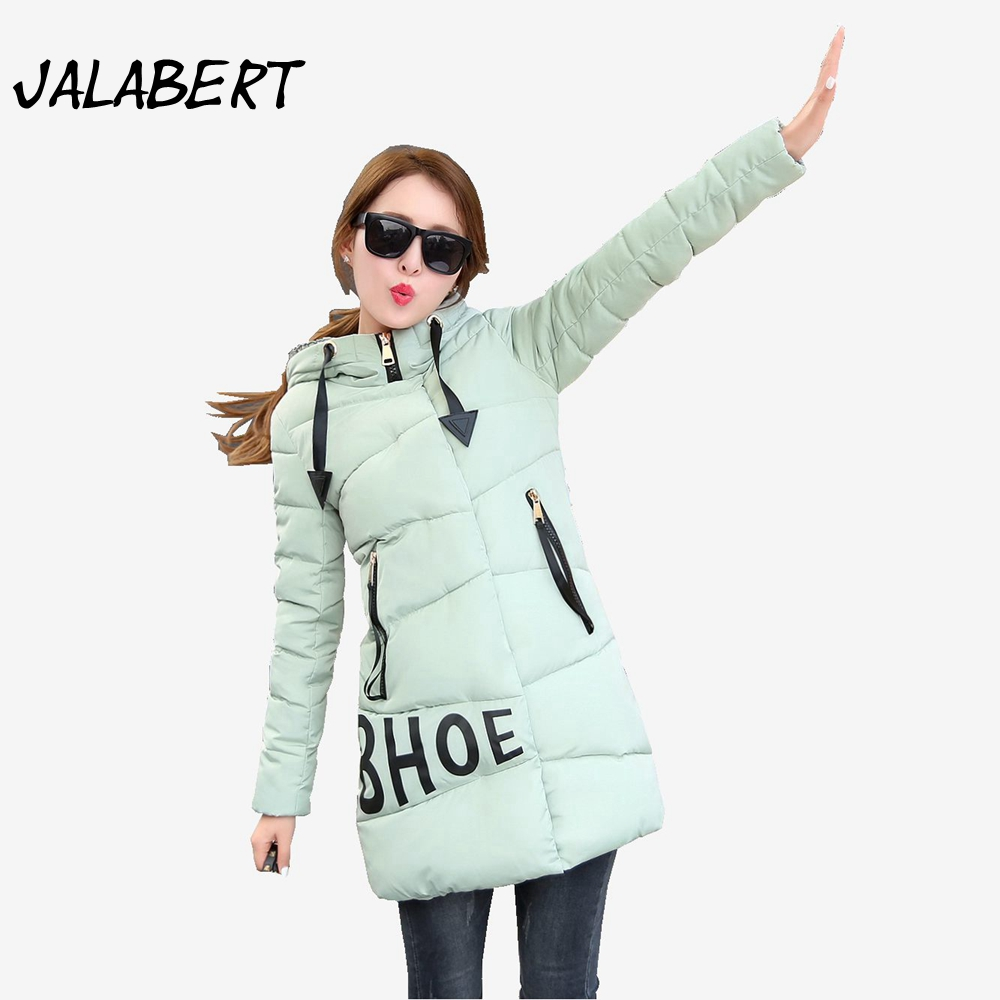 2017 new winter cotton coat women long Loose Thicker warm jacket Female fashion Hooded printing letter pattern Parkas 2017 new winter cotton coat women long thick hooded printing pattern slim jacket female fashion warm parkas