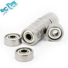 10PCS ABEC-7 Deep groove ball bearing 608ZZ 8X22X7 mm bearing steel 608 ZZ skating bearing