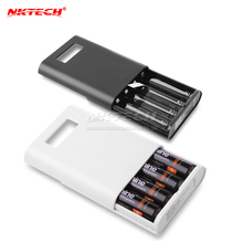 NKTECH E3S External Power Bank 18650 Battery USB LCD Charger Box 4 Slots For Mate 20 P20 Pro iPad Air iPhone XS 7 8 Tablet Cell