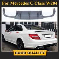 Mercedes c63 style w204 PP plastic rear bumper lip diffuser for 2011 2012 2013 2014 Benz C180 C200 C280 C300 C350 & C63 bumper