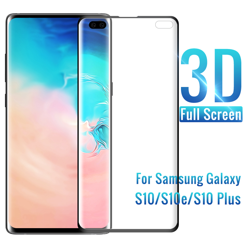 3D protective glass on for samsung S10 S 10 Plus e S10plus