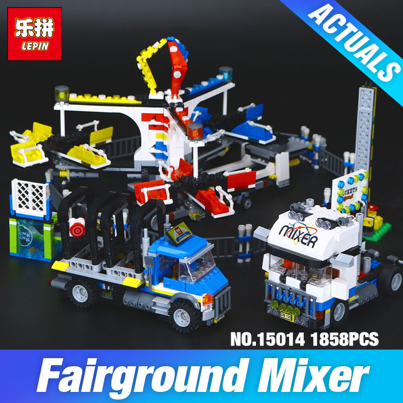 New Lepin 15014 Genuine Street Series The Amusement Park Giant Stride Carnival Set 10244 Building Blocks Bricks Educational Toy the unhappy giant level 3