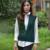 Manera Más El V-cuello de Lana tejido de punto Sólido Suéter de Las Mujeres Chaleco Weskit 6 colores