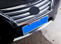 For Nissan Sentra Sylphy 2012 2015 ABS Chrome Front Bottom Bumper Cover Trim 1pcs