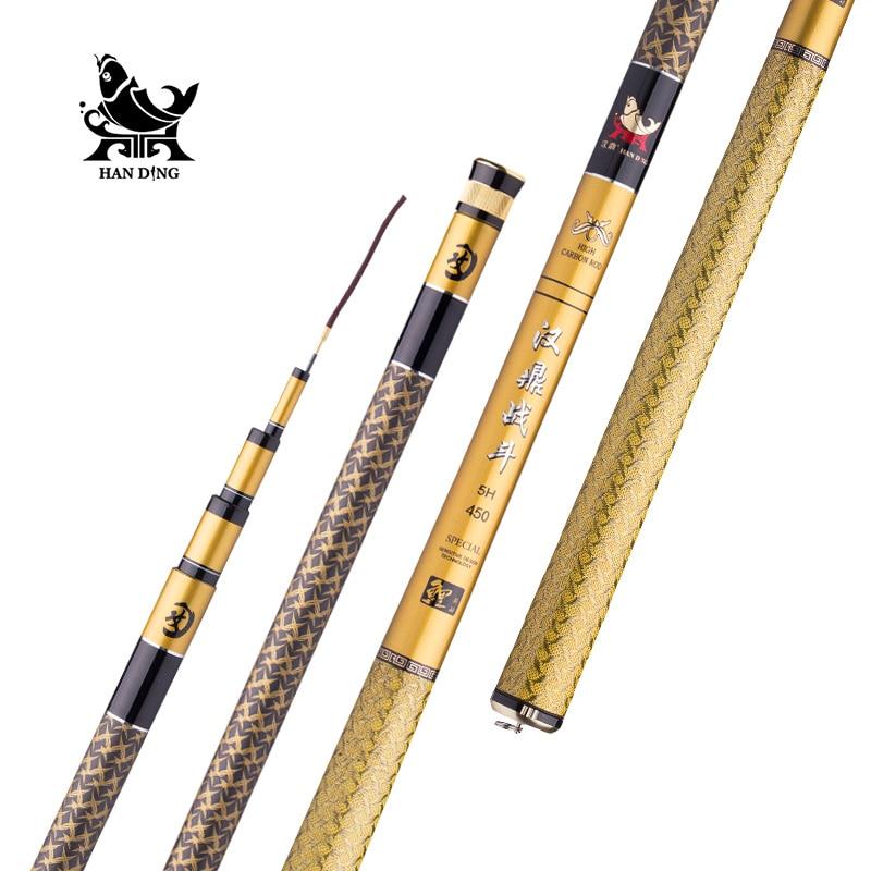 Handing 5h high carbon fiber telescopic fishing rod ultra for Ultra light fishing rod