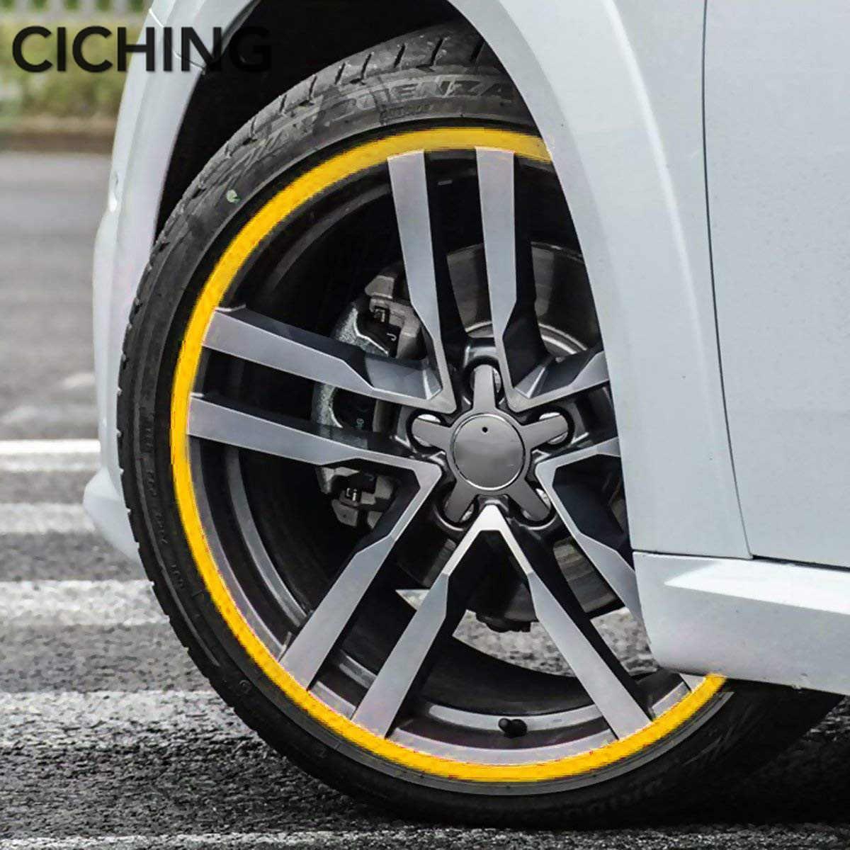 16 полоски Наклейка для колес светоотражающий обод полоса лента мопед мотоцикл автомобиль 17 18 дюймов