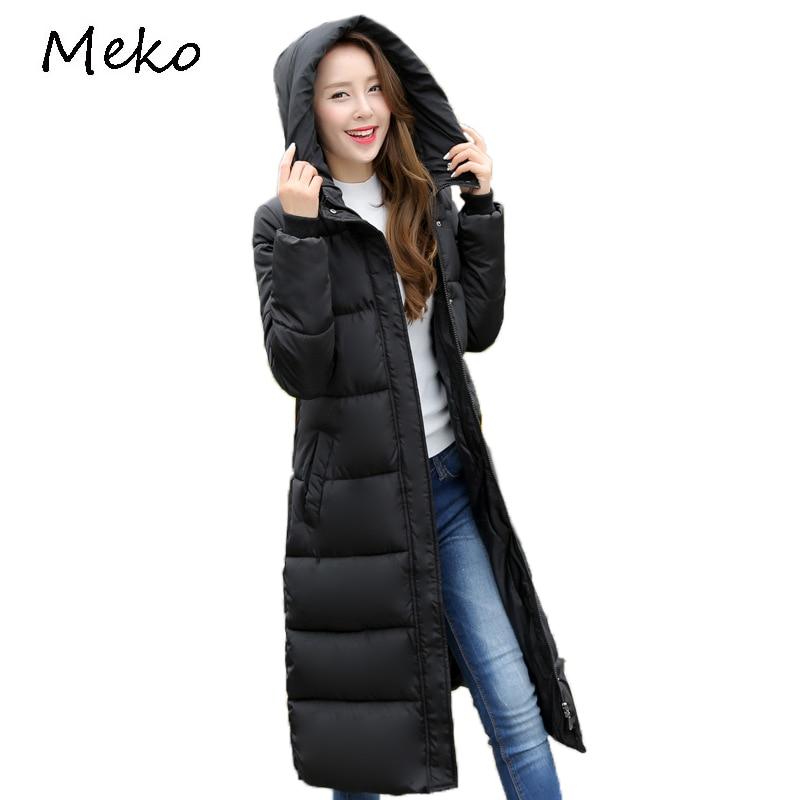 a42cdce1b24d 2017 Winter frauen Baumwolle Gefütterte Jacke Slim Warm Mit Kapuze dame Baumwolle  Mantel Plus Größe Outwear