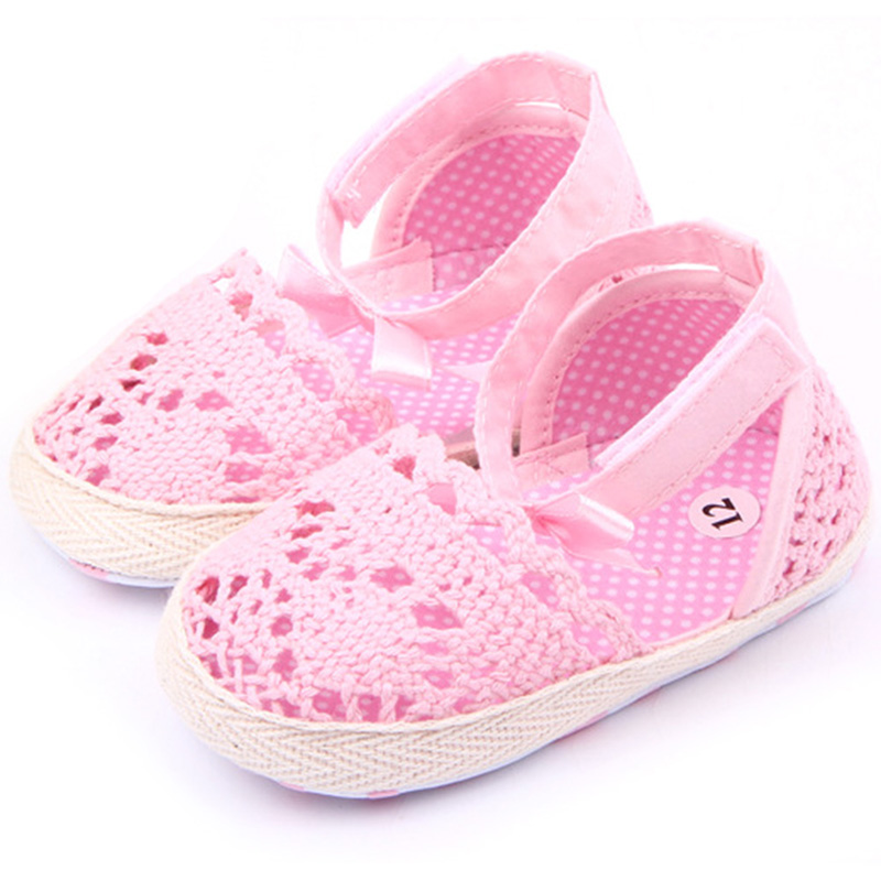 High Quality Baby Kids Girls Cotton Frework Bowknot Infant Soft Sole Baby First Walker Toddler Shoes For Baby Girls Gift