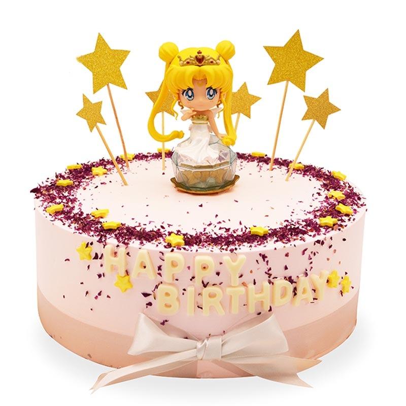 Groovy 6Pcs Set Sailor Moon Cake Toppers Mercury Mars Venus Cake Figure Personalised Birthday Cards Paralily Jamesorg