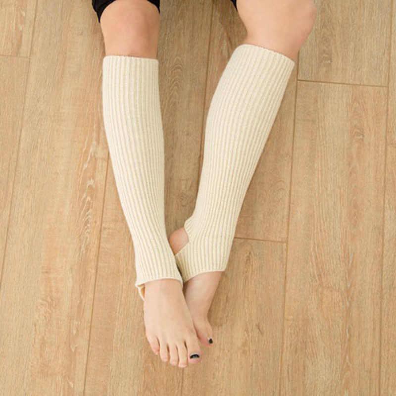 Kadın Örme Tayt Çizgili Yumuşak Kadın Dans Bacak Koruyucu Kadın Çorapları Elastik Örme Çizme Sox Calentadores Pierna Mujer