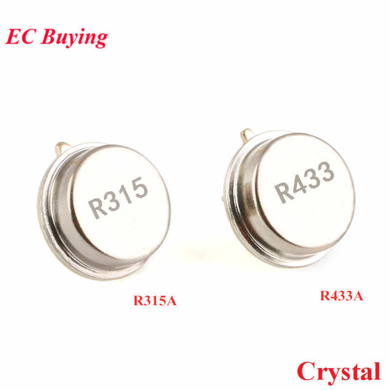 5PCS Crystal R315A 315Mhz/R433A 433Mhz Surface Acoustic Wave Resonator TO Table Quartz