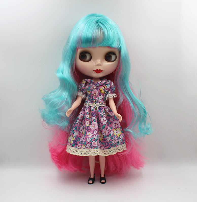 Free Shipping big discount RBL-465 DIY Nude Blyth doll birthday gift for girl 4colour big eye doll with beautiful Hair cute toy free shipping big discount rbl 331 diy nude blyth doll birthday gift for girl 4colour big eye doll with beautiful hair cute toy