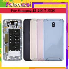 For Samsung Galaxy J5 Pro 2017 J530 J530F SM-J530F J530FM Housing Battery Door Frame Back Cover Case Chassis Shell Replacent цена и фото