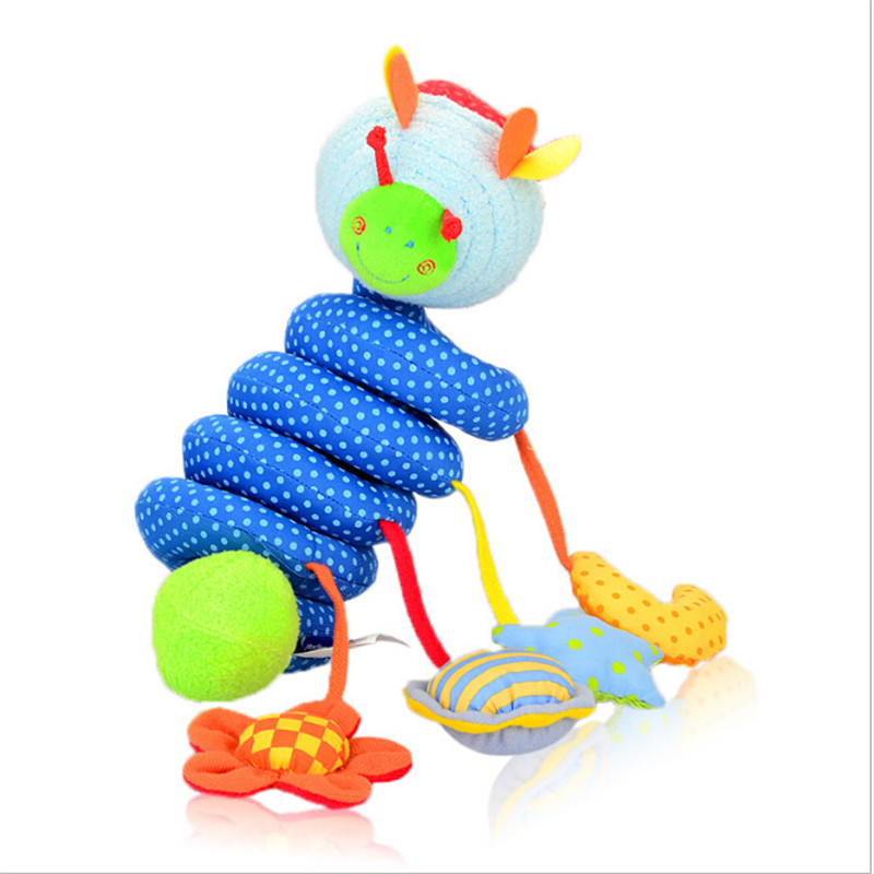 Baby Rattles Toys For 0-12 Months Stuffed Stroller Toys Animal Baby Pram Bed Hanging Educational Baby Rattle Kids Gift