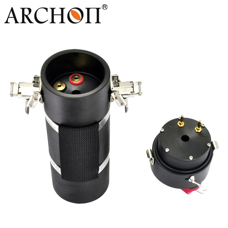 Купить с кэшбэком ARCHON DH160/ WH166 LED Canister Diving Light Underwater LED Dive Torch 150M Waterproof