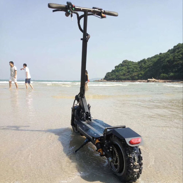 11 inch Folding Electric Scooter adults Off-Road Cross Country Double Shock Absorbers Double Drive Hydraulic Brake with seat
