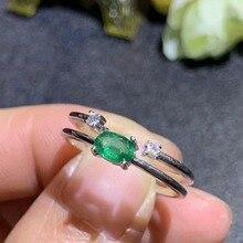 купить SHILOVEM 925 sterling silver Natural Emerald Pendants classic fine Jewelry women wedding wholesale gift new 4*6mm dj0406081agml дешево