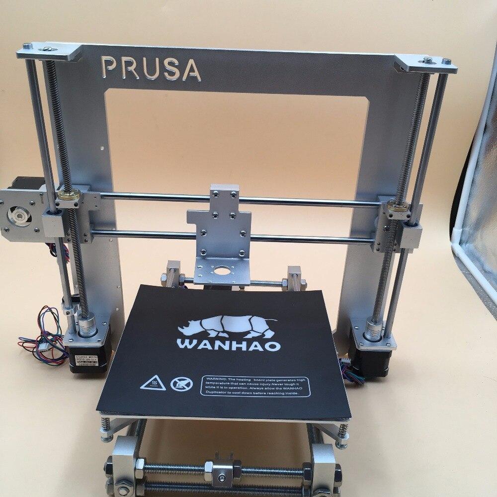 RepRap Prusa i3 алюминиевый механических fullkit серебро 5 двигателей, кровать с подогревом