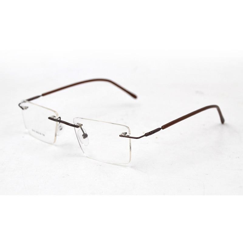 Square Rimless Men Transparent Glasses Women Eye Glasses Frames Myopia Presbyopia Optical Prescription Spectacles Frame L3