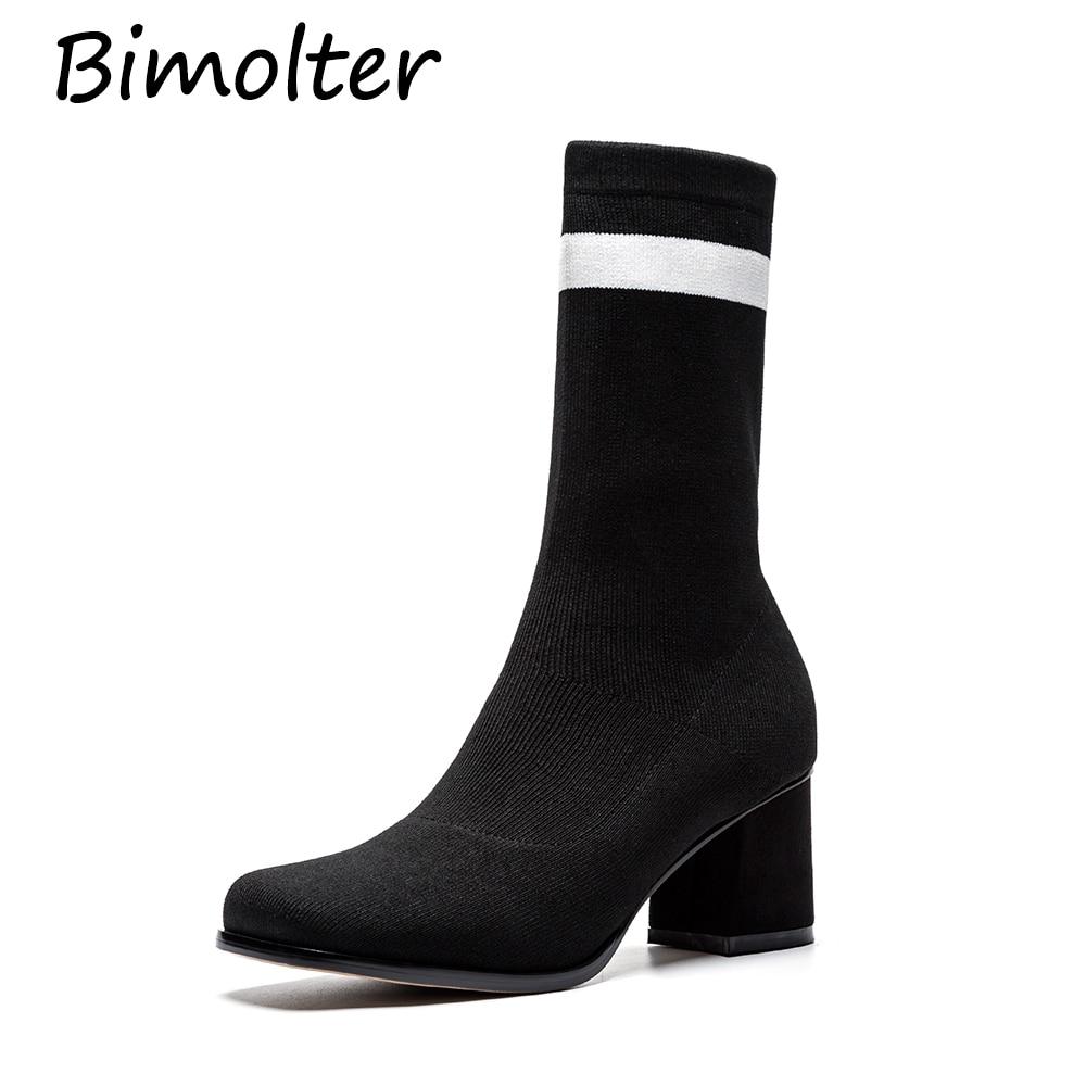 Calle De Elástico Botas Paeb006 Aire Zapatos Mujer Cm 6 Al Moda Tacón Alto Claf Black vwqXgq
