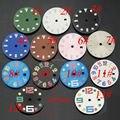 Corgeut 28.5mm mostradores de relógio (13 tipos para você escolher) fit mingzhu dg2813, dg3804 movimento mens relógio relógio acessórios