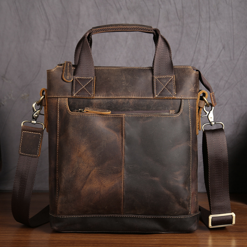 Shang Demeng Vintage Crazy Horse man Baotou layer leather shoulder bag shoulder bag handbag factory direct sale 5803