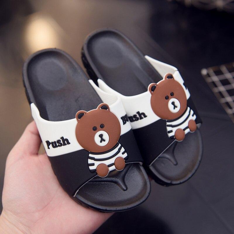 Enfants d'été Chaussures Filles Garçons Pantoufles Mignon de Bande Dessinée Confortable Mode Enfants Pantoufles Anti-glissement Pantoufle Plage Chaussures S03
