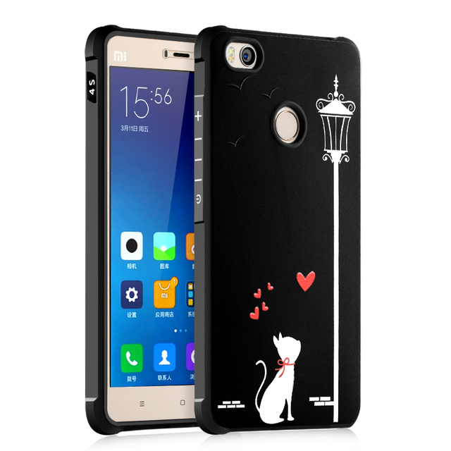 4f52a4d3050 Phone Cases For Xiaomi Mi4 Mi 4C Mi 4i Mi 4S Case 3D Soft Silicone TPU Back  Cover For Xiaomi Mi4C Mi4S Mi4 Mi 4 4C 4i 4S Cases