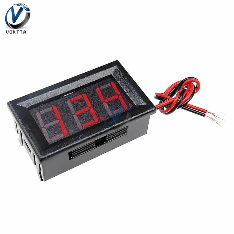 """0.56 """"0.56 นิ้ว MINI DIGITAL Voltmeter Ammeter DC 100V 10A แผง AMP Volt เครื่องวัดแรงดันไฟฟ้า Tester BLUE สีแดง Dual จอแสดงผล LED"""