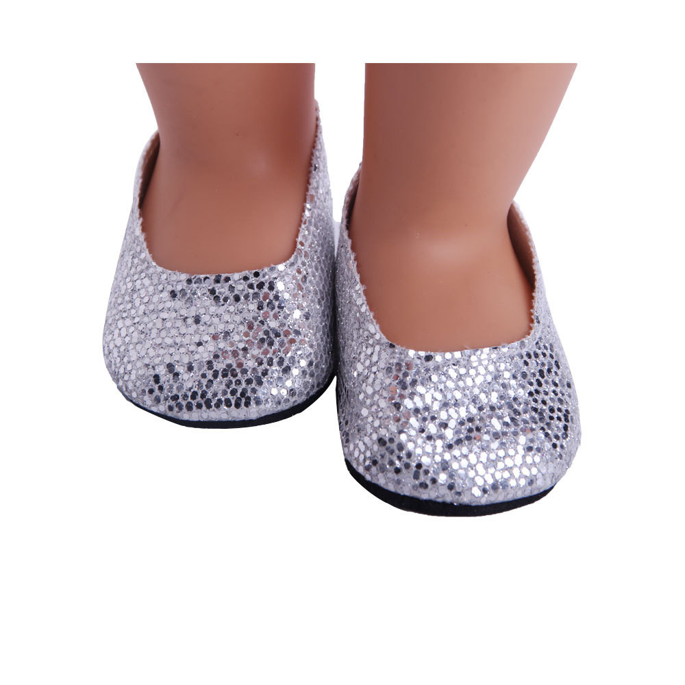 Hot sale Glitter Doll Shoes Dress Shoe ACCY For 18 inch Our Generation American Girl Doll18jan08