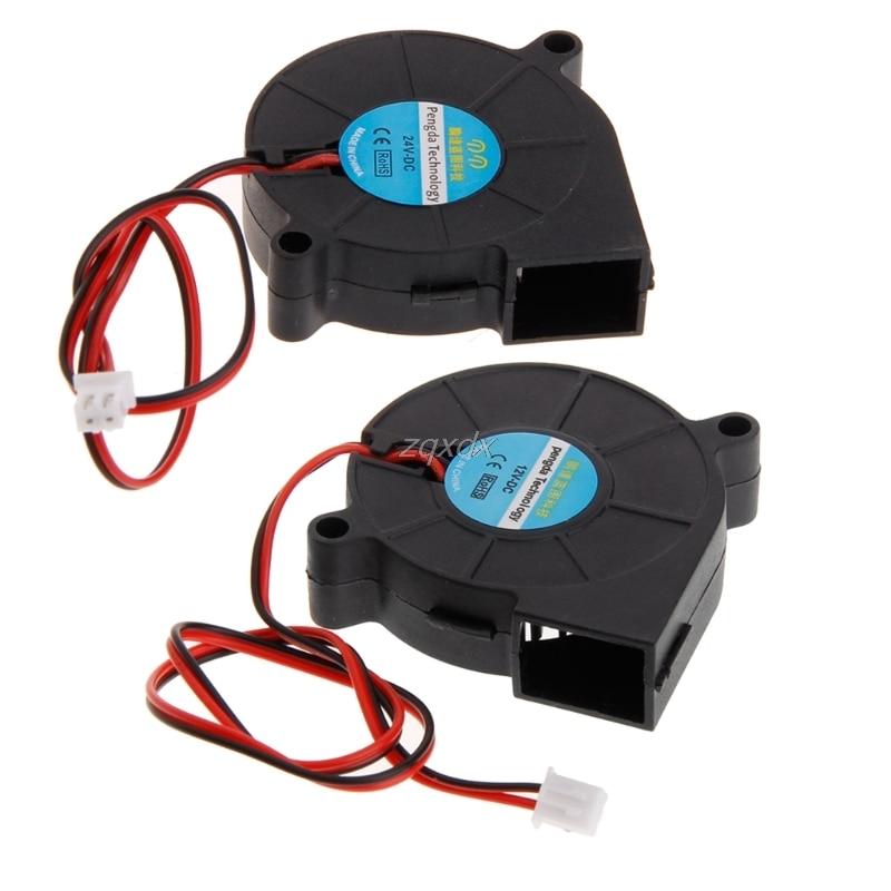 3D Printer Fan 5015 12V 24V 0.23A Sleeve Bearing Brushless Fan Centrifugal For Reprap i3 DC Cooling Fan Fan 5015S June mga1724xb o51 for protechnic cooling fan two ball bearing 17cm 24v