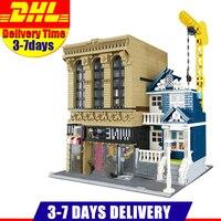 LEPIN 15035 2841Pcs Creative MOC The Bars And Financial Companies Set Children Educational Building Blocks Bricks