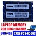 Память ноутбука 2GB 2Rx8 PC3-8500S RAM DDR3 4G 1066 MHz 8g pc3 8500 для hp CQ32 CQ41 CQ621 4311s 4321s 6540b Notebook SODIMM
