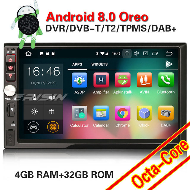 91cf9043d68a42 Erisin ES7841U 7 inch car dvd player android 8.0 4G RAM DAB OBD WIFI 3G for  universal cars