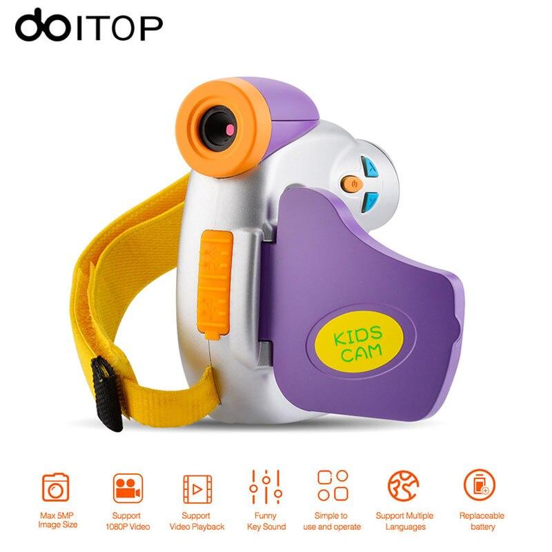 DOITOP Mini Child Digital Camcorder Camera 1.5 inch 5MP 1080P Children Video DV Safe Natural Toy Gift Baby Kids Record Camera A3
