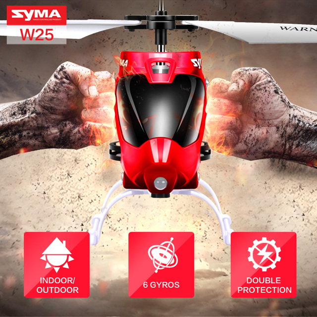 Original Syma Shatter Resistant Mini RC Toy for Kids Remote Control Helicopter with Flashing LED Search Light