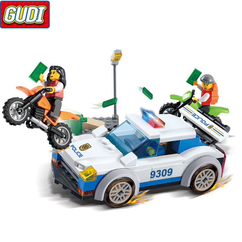City High Speed Police Chase Blocks 158pcs Bricks Building Blocks Sets Model Bricks Educational Toys For Children 9311 ...