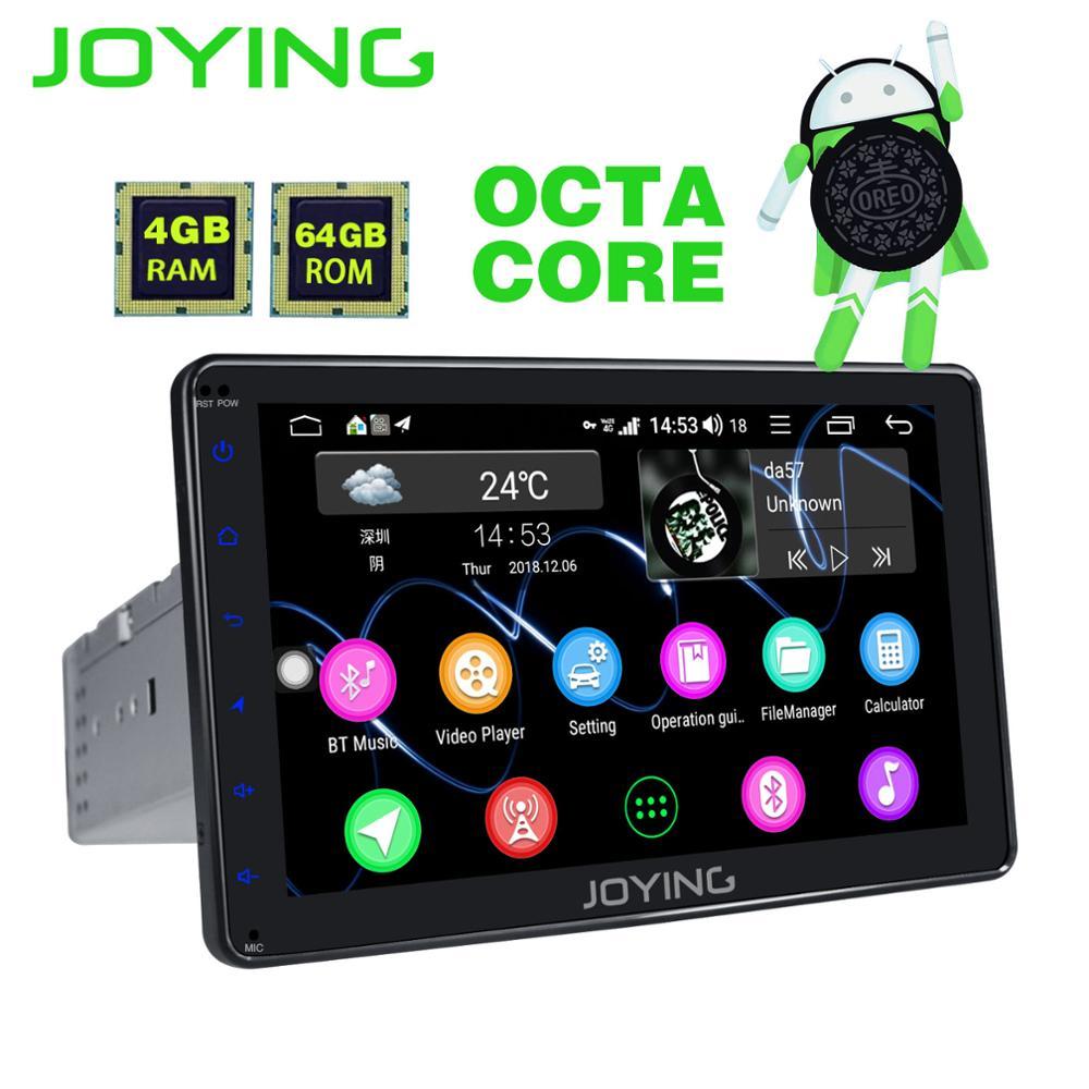 JOYING Android 8.1 unidade de cabeça din estéreo rádio do carro 1 Octa Núcleo 8