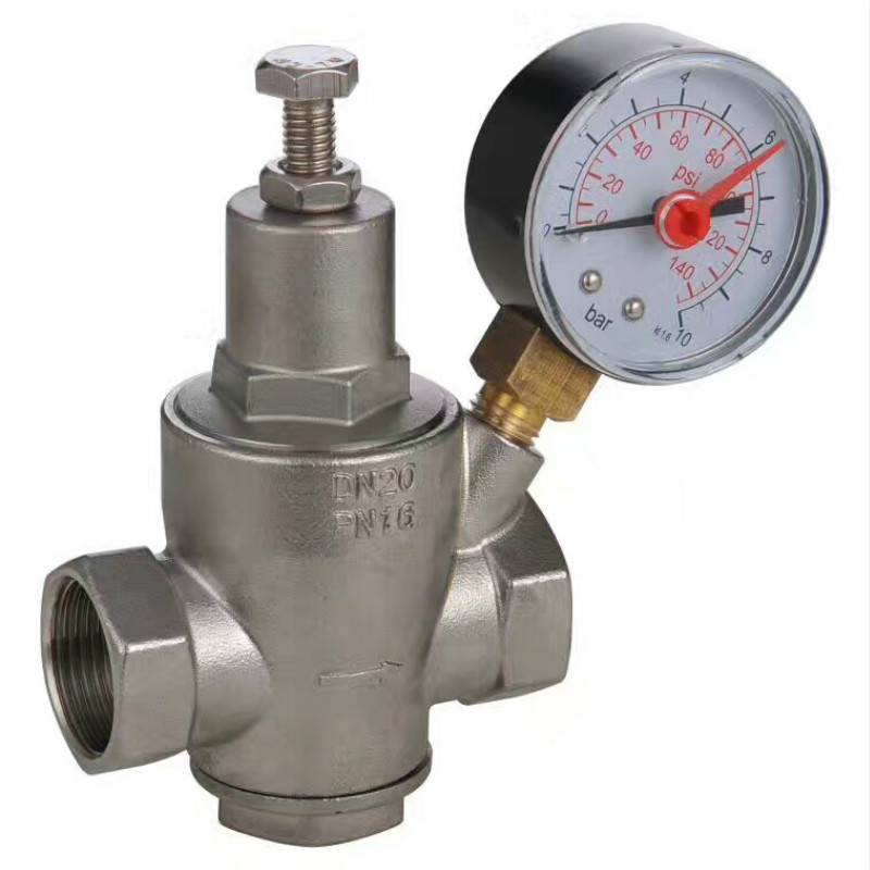 Stainless steel water pressure reducing valve Female thread Water heater Regulating valve pressure regulating valve DN15 DN50